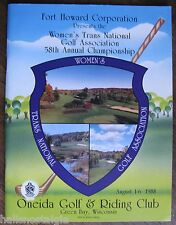 Golf Magazine: Women's Trans National Golf Assoc. 58th Annual 1988 Green Bay, WI