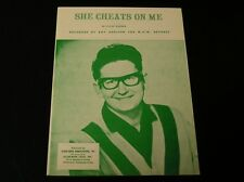 Sheet Music-Roy Orbison-She Cheats On Me-1968-NEW OLD STOCK!