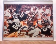 PITTSBURGH STEELERS STEEL CURTAIN PHOTO SIGNED BY GREENE,WHITE,LC,HOLMES w/ COA