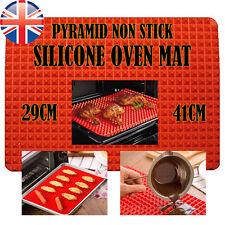 *UK Seller* Silicone Pyramid Fat Reducing Oven Tray cooking Mat Baking Sheet