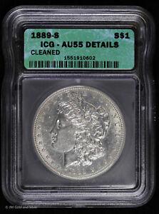 1889 S Morgan Silver Dollar ICG AU 55 Details