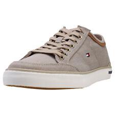 Tommy Hilfiger Core Material Mix Sneaker Uomo Beige Scarpe da Ginnastica - 42 EU