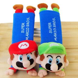 Super Mario Bros Safety Car Seat Belt Seatbelt Shoulder Harness Cushion Pad Case