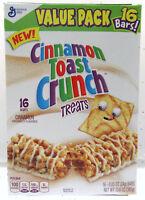 Cinnamon Toast Crunch Treats 16 Bars General Mills Cereal Bar ~ Value Pack Box