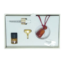Meli & Moli Essential Oil Bottle Pendant Carnelian Rope Chain Necklace