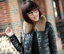 "Men&Women real Wonderful raccoon fur Down jacket collar 19X4.7""inch scarf brown"