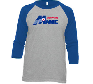 Montreal Manic NASL Soccer Team Tee Shirt T-Shirt, Long Sleeve, Tank, 3/4 Sleeve