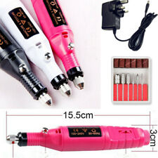 Professional Electric Nail File Drill Manicure Tool Pedicure Machine Set Pink UK