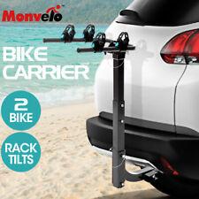 Monvelo Car Bike Rack Carrier 2 Rear Mount Bicycle Steel Foldable Hitch Mount
