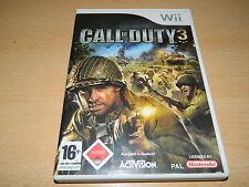 Nintendo Wii - Call of Duty 3 - Rarität - USK 18 - Activision - guter Zustand
