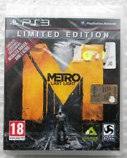 METRO LAST LIGHT LIMITED EDITION PS3 PLAYSTATION 3 NUOVO