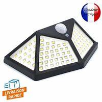 Lampe Lumière Solaire Murale Extérieur Détecteur Mouvement Eclairage 100 LED