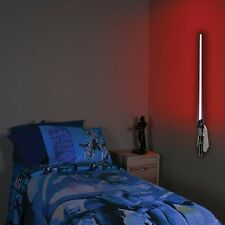 Star Wars Lightsaber Light Lamp Remote Control Kids Darth Vader Red Wall-mounted