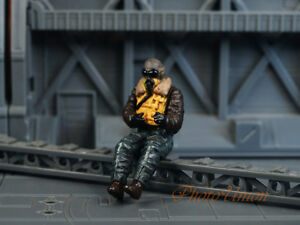 1:32 Soldier Figure WW2 German American Fighter Bomber Plane Pilot Painted A