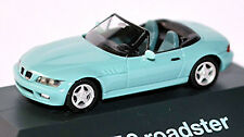 BMW Z3 2,8 ROADSTER E36/7 CABRIOLET 1996-2000 Hell turquois vert 1:87 HERPA