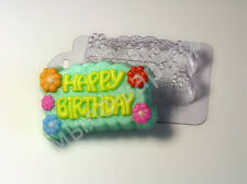 """Happy Birthday"" plastic soap mold soap making mold mould"