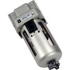 "Smc 1/4"" Main Line Filter 10 Cfm w/ Auto Drain, Removes Oil, Water, Particles"