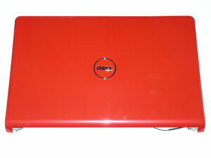 Genuine Dell Inspiron 1564 RED Lcd Back Cover  & Hinges - 245TH 0245TH B