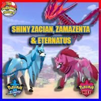 Pokemon Sword and Shield HOME | SHINY Zacian, Zamazenta & Eternatus