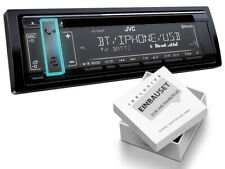 JVC 1DIN Radio Bluetooth USB Einbaukit für Renault Clio III 2005-2012 schwarz