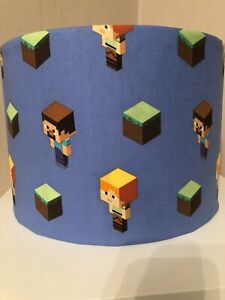 Minecraft Blue 30cm Ceiling Shade with Blocks and Characters