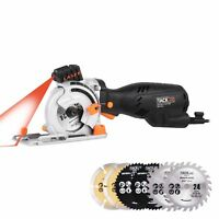 Mini Circular Saw With Laser Cutting Depth Left-Handed Blade Design Laser Guide