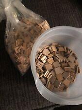 Huge lot of 500 Genuine Authentic Wooden Scrabble Tiles / crafts scrapbooking