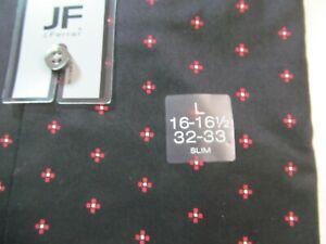 NWT J. FERRAR SLIM FIT STRETCH LONG SLEEVE DRESS SHIRT, Red Black Geo