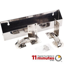 "Stainless Steel Wide Sink Tip Out Tray Pack - 2"" Deep x 3"" Tall x 11-11/16"" Long"