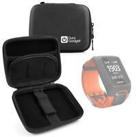 Hardwearing Black Storage Case With Soft Lining for TomTom Adventurer Smartwatch