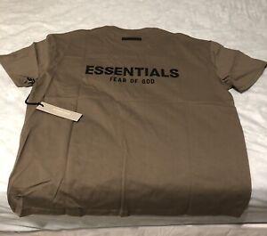 FOG - Fear Of God Essentials T-Shirt - Taupe - Size Medium - Last 2 shirts