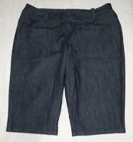 Lane Bryant Womens Dark Denim Capri Trouser Pants (or Bermuda Shorts) Size 26