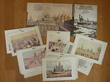 36 historische Karten MOSKAU in Mappe Zeichnungen + Aufn., Beschreibung Rücks.