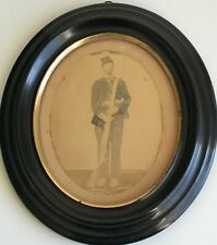 Original Large Format Photograph Civil War Soldier Hand-Colored Shadowbox Frame