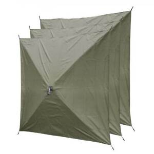 CLAM Quick-Set Canopy Shelter Screen Hub Wind, Rain & Sun Panels, Green (3 pack)