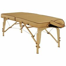 Mt Massage 30 inch Lotus Deluxe Portable Package Bed Couch Table cream