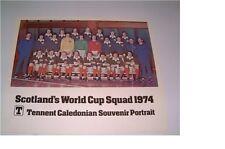 Original Rare Scotland Word Cup Squad 1974 - Tennents Souvenir Portrait