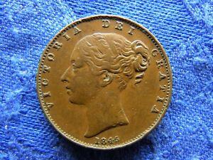 UK FARTHING 1845, KM725