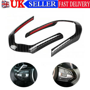 Carbon Fiber Steering Wheel Button Trim Cover For BMW X5 / F15 X6 / F16 M-Sport