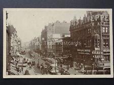 Yorkshire LEEDS East Side BRIGGATE Advert SCHWEPPE GINGER ALE early Postcard