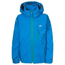 Trespass Kelson Boys Jacket Waterproof Grey & Blue Ultramarine 5 - 6 Years