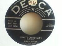 BING  CROSBY        45 SINGLE,   WHITE  CHRISTMAS  / GOD REST YE MERRY GENTLEMEN