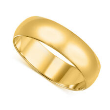 14k Yellow Gold 8-mm UNISEX Standard-fit Polished Wedding Band