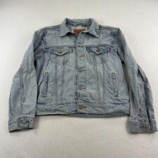 Levis Jean Jacket Adult Medium Blue Denim Rancher Rancher Coat Casual Men
