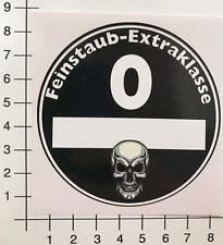 UMWELTPLAKETTE FEINSTAUB EXTRAKLASSE Diesel Aufkleber Sticker Feinstaubplakette