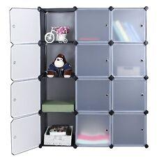 Mobiletto armadio modulare impermeabile e resistente quadrato 12 scomparti NERO