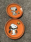 Pottery+Barn+Kids+Set+of+2+Snoopy+Halloween+Plates