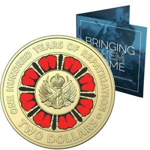 🔥2019 Australia $2 UNC Carded 'C' RAM Coin - Repatriation Day - Lest We Forget