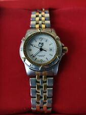 Tag Heuer 955.708 WD1421.BB0615 1500 Professional White SS Watch Womens Gold