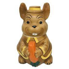 Vintage 70s Bunny Rabbit Cookie Jar Ceramic Elmer